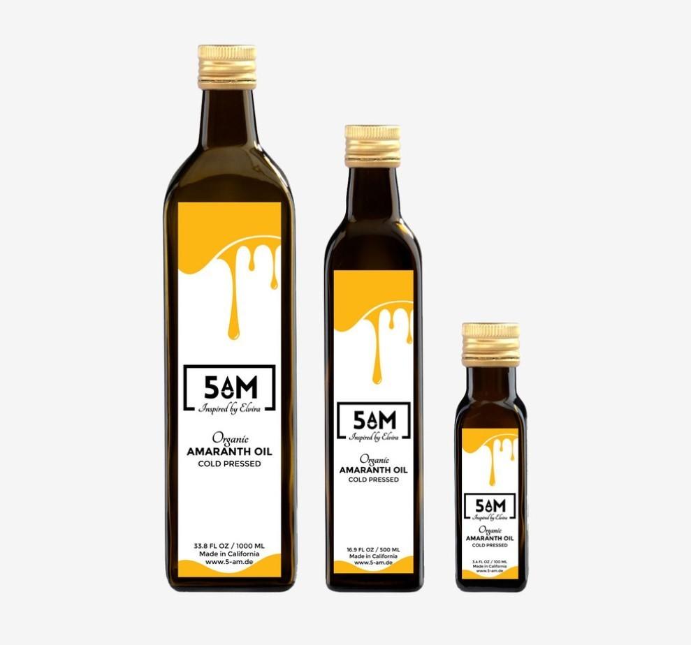 Бутылки с амарантовым маслом