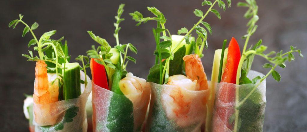 Овощные роллы с рисовой бумагой