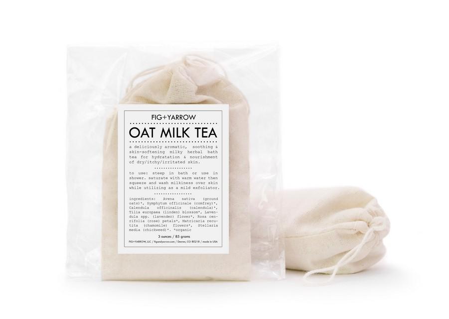 Чай на основе овсяного молочка