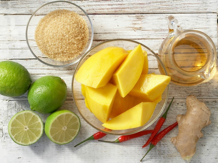 Необходимые ингредиенты для мангового чатни