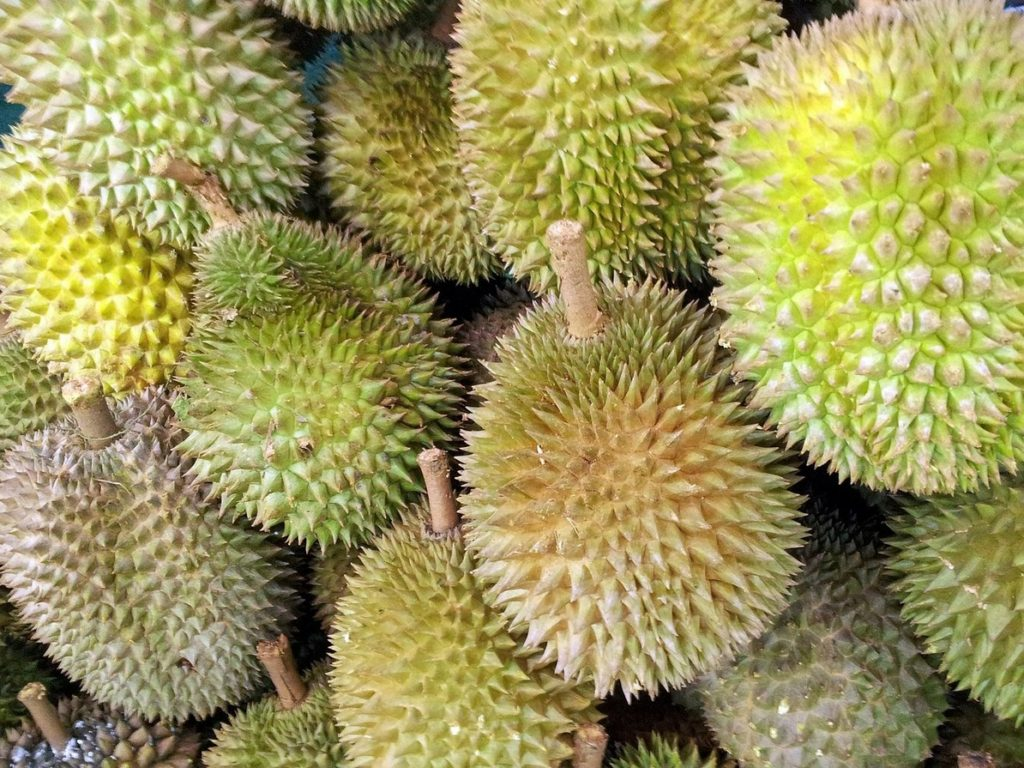 Фрукт дуриан на рынке Тайланда