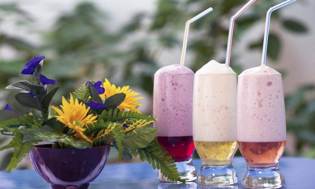 Кислородные коктейли с разными вкусами