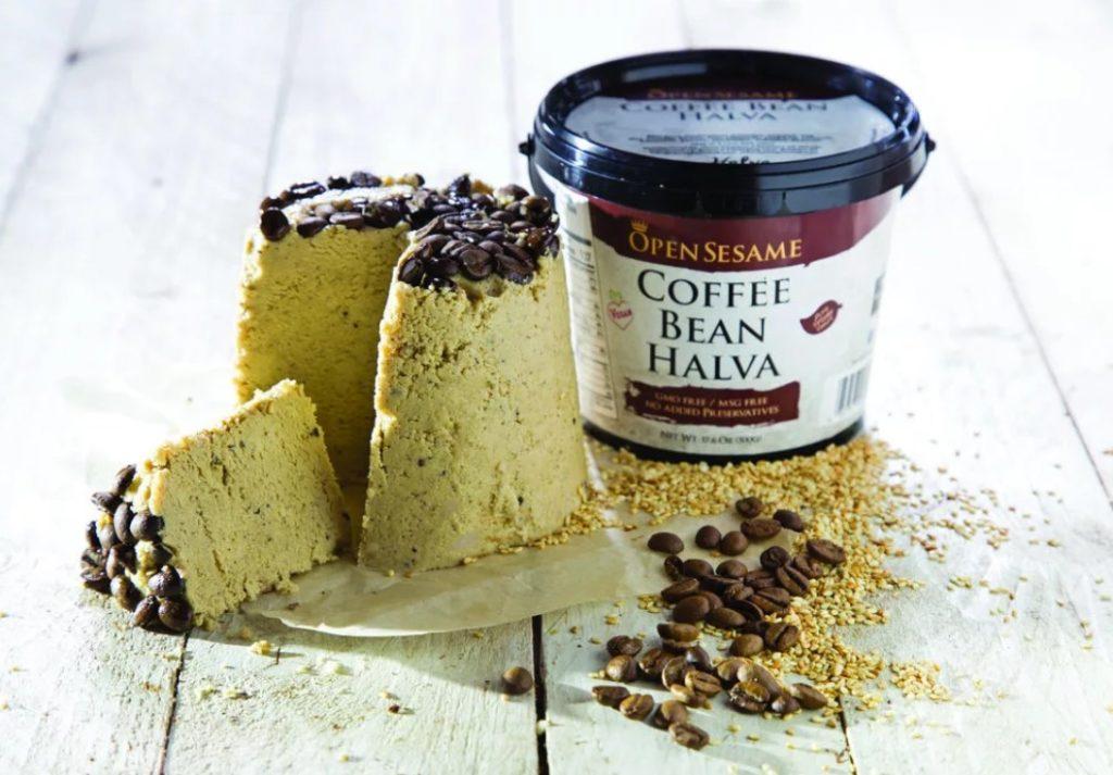 Кунжутная халва с зёрнами кофе