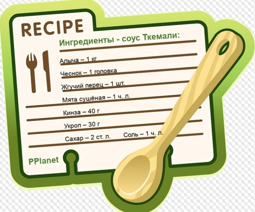 Ингредиенты для Ткемали