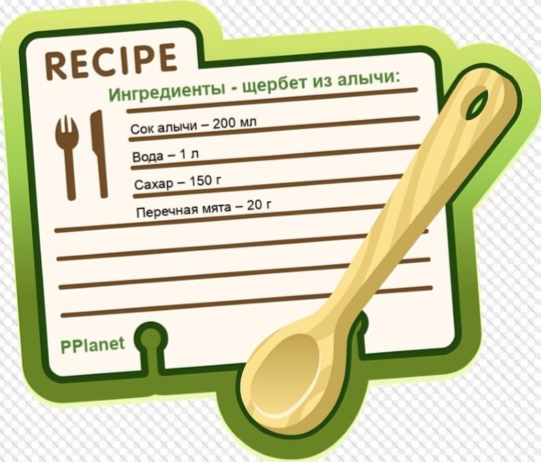 Ингредиенты сорбет из алычи
