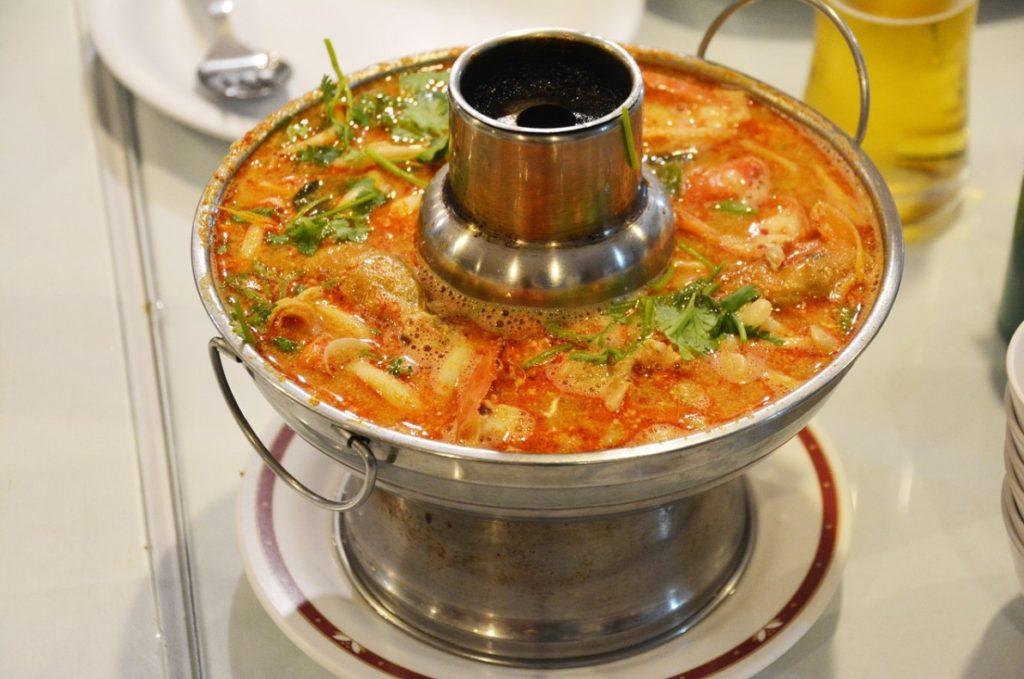 Самовар для приготовления супа Том Ям