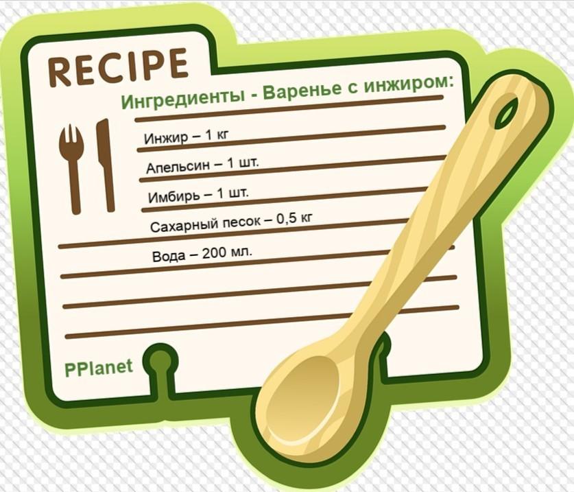 Ингредиенты для варенья из инжира
