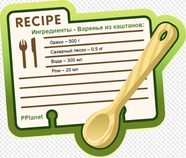 Ингредиенты для каштанового варенья