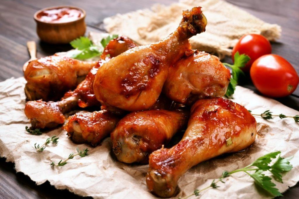 Куриная голень под соусом Наршараб