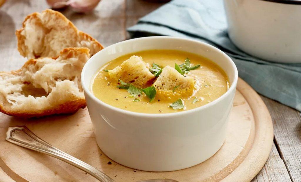 Суп-пюре из репы и яблок