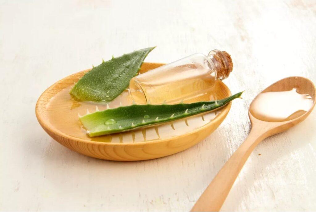 Ингредиенты для маски из кедрового масла и алоэ