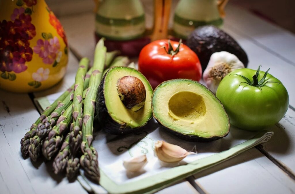 Овощи и аспарагус для спаржи